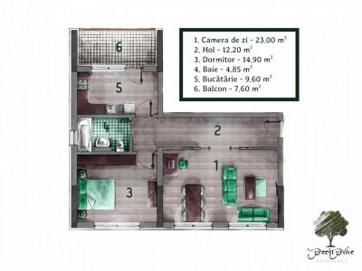 Apartament 2 camere decomandat Green Grove Residence - Comision Zero